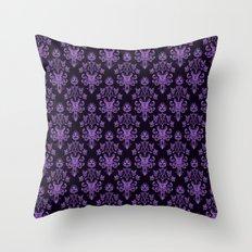 Haunted Wallpaper Throw Pillow