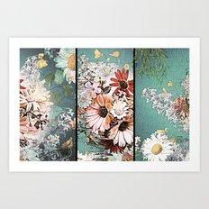 Pastel Bohemian Floral Art Print