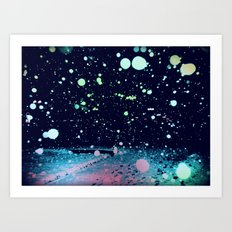 Snowy, snowy night Art Print