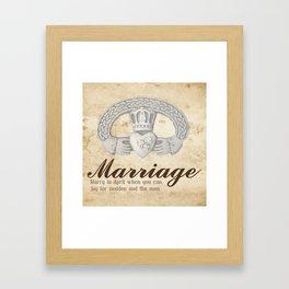 April Marriage Framed Art Print