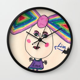 Lisa Love Marker Wall Clock
