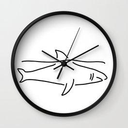 shark shark fish fin sea Wall Clock