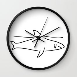 shark shark fish fin sea Wall Clock
