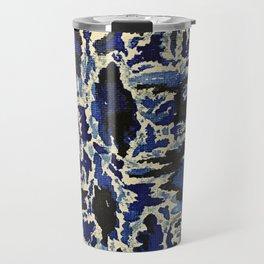 Black & Blue Water Color Travel Mug