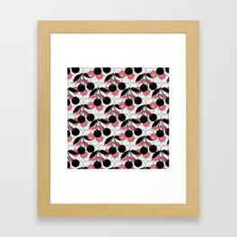 Black and pink pattern . Cherry . Framed Art Print