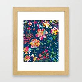 Paper Floral Framed Art Print