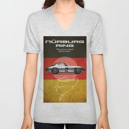 Nürburgring Vintage 300SLR Uhlenhaut Coupe Unisex V-Neck