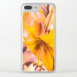 Yellow Lilies In The Garden #decor #society6 #buyart Clear iPhone Case