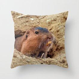 Botta's Pocket Gopher Throw Pillow