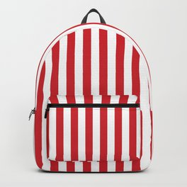 Vertical stripes - red and white Backpack