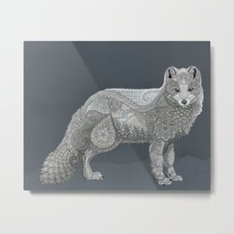 Arctic Fox Metal Print