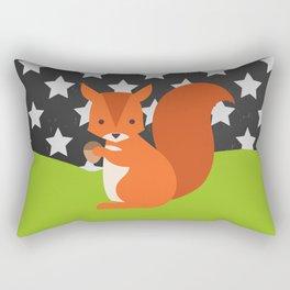 Squirrel, animals, stars, Chalkboard , nursery decor , children gift, birthday gift Rectangular Pillow