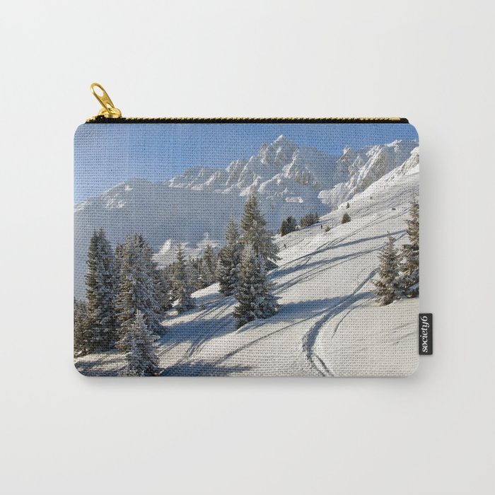 Courchevel 3 Valleys French Alps France Carry-All Pouch