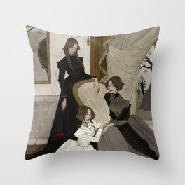 The Fox Sisters Throw Pillow