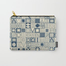 wolf geo blue ivory Carry-All Pouch