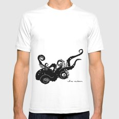 Octopus Mens Fitted Tee White MEDIUM