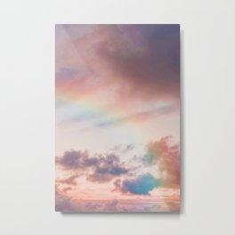 Pastel Rainbow Sky (Color) Metal Print