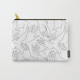 Abstract hand line art drawing Carry-All Pouch