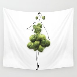 Edible Ensembles: Green Sprouts Wall Tapestry
