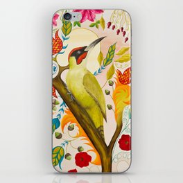 Green Woodpecker iPhone Skin