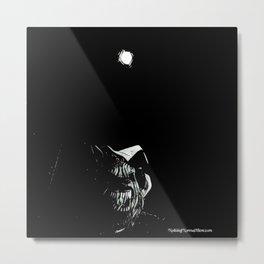 Full Moon Black and White Metal Print