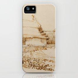 Vincent van Gogh -  Two Cottages at Saintes-Maries-de-la-Mer (1888) iPhone Case
