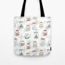 Christmas glass jars Tote Bag