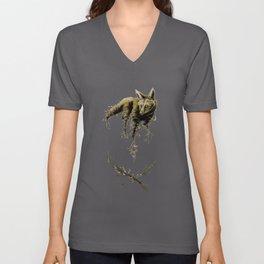 Amber Maned Wolf Unisex V-Neck
