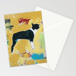 Boston Terrier Painting Art Stationery Cards