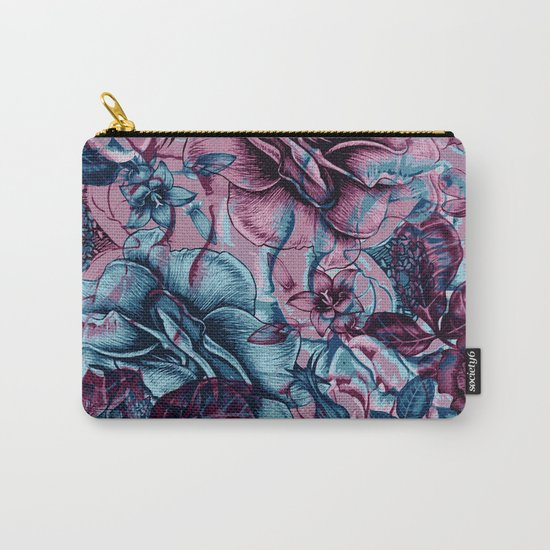 Floral Composition Carry-All Pouch