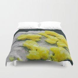 Sulfur on Celestine Duvet Cover