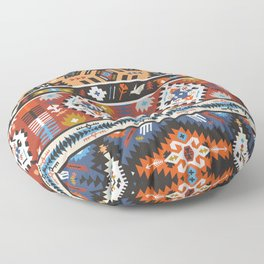 Fancy abstract geometric vector pattern in tribal style.cdr Floor Pillow