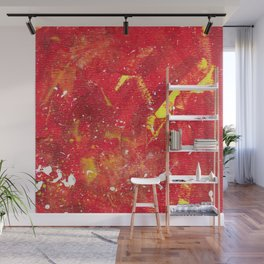Red Fumes Wall Mural