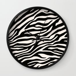 Zebra Animal Print Pattern Wall Clock