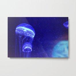 Aquatically Electric Metal Print