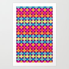 candy diamonds Art Print