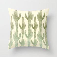 Giant Cactus Throw Pillow