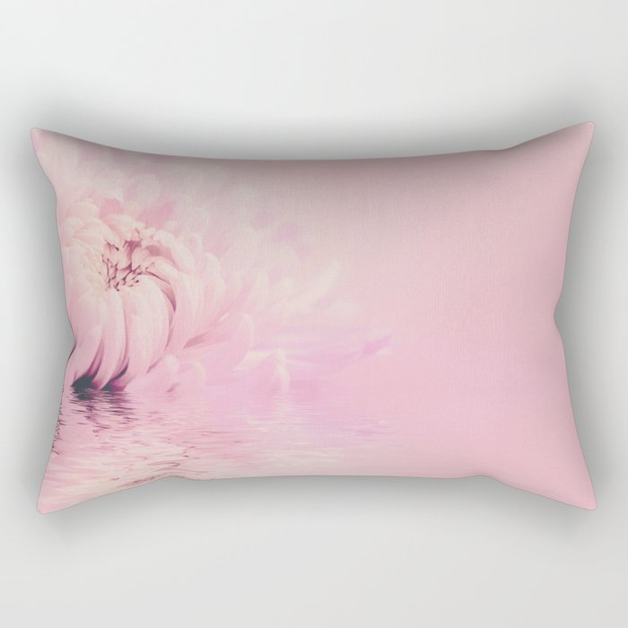 Romantic chrysanthemum flower soft pink pastel Rectangular Pillow