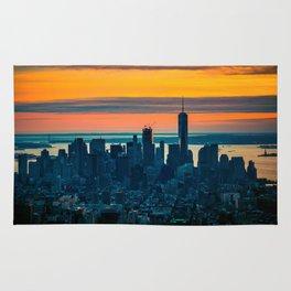 sunset in New York Rug