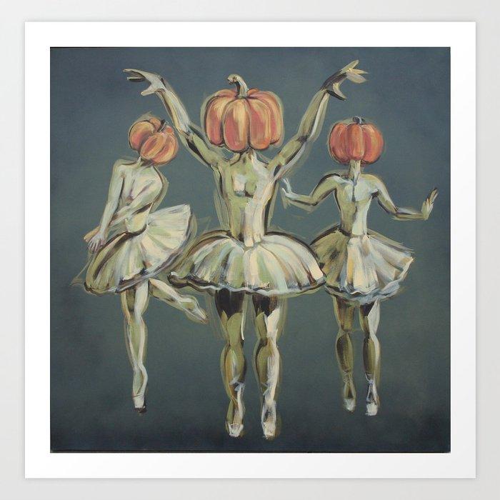 Pumpkin Bunheads Art Print