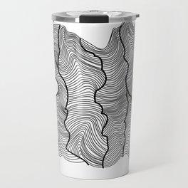 Contour Lines Travel Mug