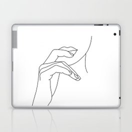 Hands line drawing illustration - Grace Laptop & iPad Skin