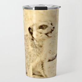 Vintage Animals - Meerkat Travel Mug