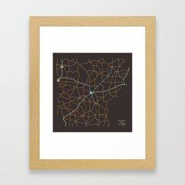 Arkansas Highways Framed Art Print