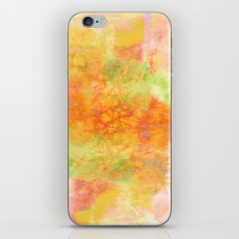 PASTEL IMAGININGS 3 Colorful Pretty Spring Summer Orange Yellow Peach Abstract Watercolor Painting iPhone Skin