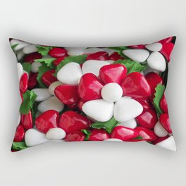 Flowers with sugared almonds as petals. Rectangular Pillow