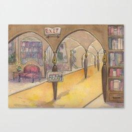 Literary Land: Hotel Lobby Canvas Print