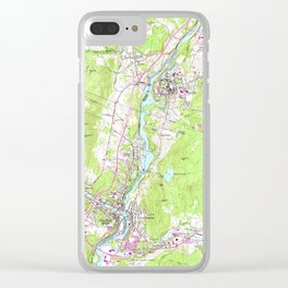 Vintage Lebanon & Hanover New Hampshire Map (1959) Clear iPhone Case