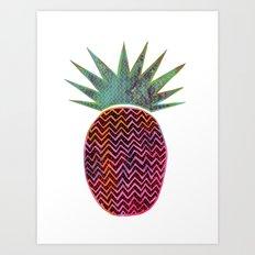 Chevron Pineapple Art Print