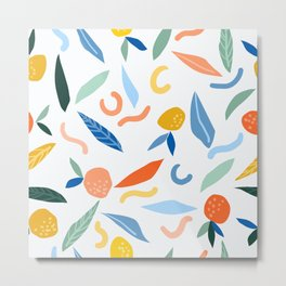 The object of art is to give life a shape. #pattern #illustration Metal Print